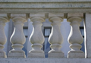栏杆的支 免版税图库摄影