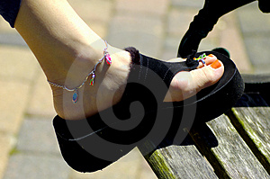 Womans Shoe Stock Image