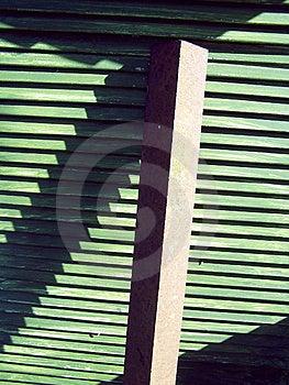 Groene slated hout en balk Stock Foto's