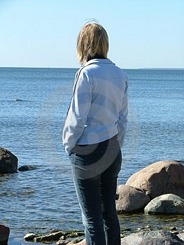 Woman Standing Free Stock Photography