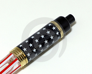 Patriotic Pen Stock Image