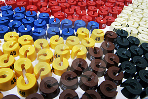 A Lot Of Colour Size Washers Royalty Free Stock Photos - Image: 1207548