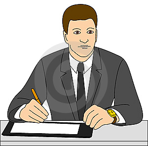 Businessman Signs A Contract Royalty Free Stock Photos - Image: 12055498