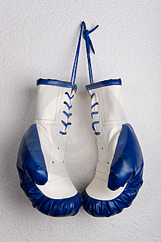 Pair of boxing gloves Royalty Free Stock Photos