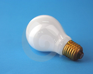 Lamp On Blue Stock Image - Image: 1210101
