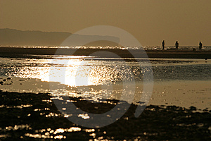 Sunset In Colleville-sur-Mer Royalty Free Stock Photo - Image: 1215455