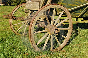 Coach Wagon Wheel Royalty Free Stock Images - Image: 1216279