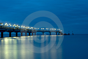 Pier At Night Stock Photography - Image: 12130022