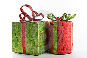 Two gift boxes Stock Photography