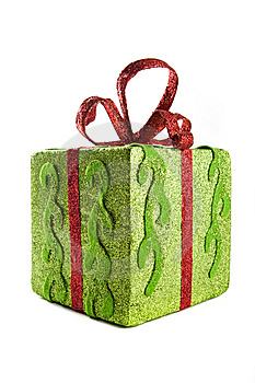 Square gift box for Christmas Stock Photos