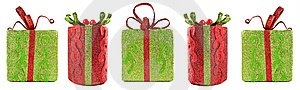 Christmas gift boxes Free Stock Photography