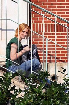 Teen With Bag Stock Image - Image: 1237321
