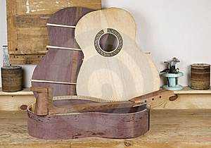 Details Of The Classical Guitar Royalty Free Stock Images - Image: 12314999