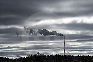 Industrial smog Stock Image