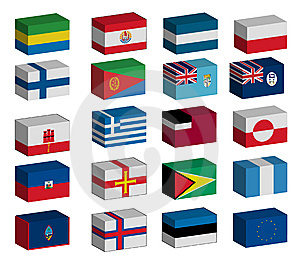 3D flags set
