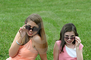 Girls With Sunglasses Stock Photos - Image: 1244293