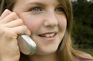 Girl Using Cellphone Stock Images - Image: 1246744