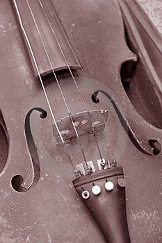 Old Dirty Violin Stock Image - Image: 1247351