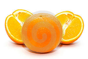 Three oranges Stock Images