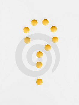 Question-mark Of Pills Stock Photo - Image: 12467890