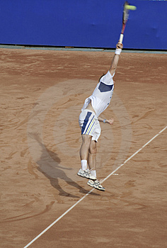 Tennis Man Serving The Ball V Stock Photos - Image: 1258313