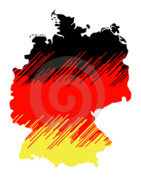 Isolated Map Of Germany 03 Royalty Free Stock Image - Image: 1259896