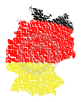Isolated Map Of Germany 11 Royalty Free Stock Photo - Image: 1259935