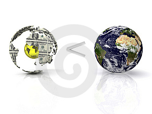 Planet the earth Royalty Free Stock Photo