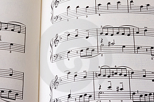 Sheet of music P01 Royalty Free Stock Images