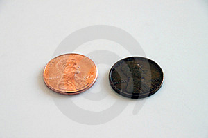 Pennies - Old And New Royalty Free Stock Photo - Image: 12642305