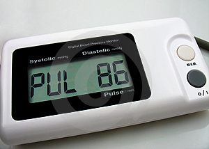 Digital Blood Preasure Monitor Royalty Free Stock Photo - Image: 1271335