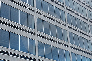 Office windows Royalty Free Stock Photos
