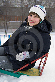 Smiling Girl In Winter Royalty Free Stock Photo - Image: 12756345
