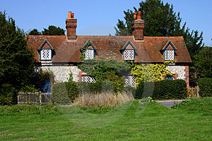 Row Of Flint Cottages Stock Photo - Image: 1280570