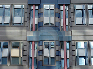 Modern Building With Glass Reflections Stock Photo - Image: 1284640