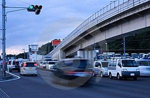 Dusk traffic