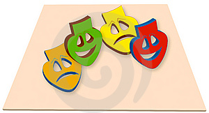 Colorful Mask Stock Image - Image: 12806051