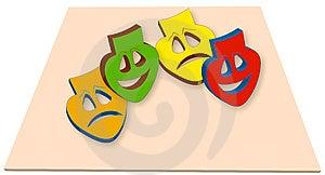 Colorful Mask Stock Image - Image: 12806051