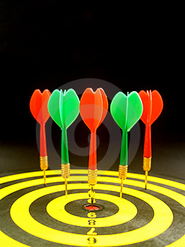 Darts Row 1 Stock Images - Image: 1296874