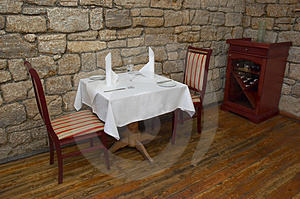 Restaurant Table Stock Photo - Image: 1298820