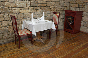 Restaurant Table Royalty Free Stock Photography - Image: 1299057