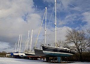 Ships On Land Stock Images - Image: 12943644