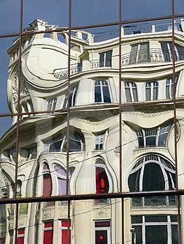 Distorted Building Reflection Stock Photos