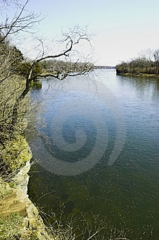 Ποταμός Kankakee Στοκ Εικόνα