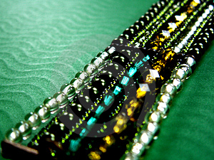 Green bracelet Stock Image