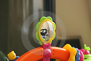 Childs Toy With Mirror Stock Image