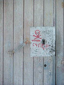 Wooden Door With Red Writings On It Free Stock Images
