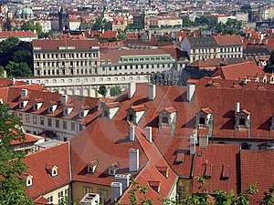 Panorama Of Prague Free Stock Images