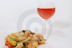 Shrimp Meal Free Stock Image