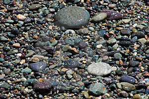 Cailloux de rivage Image stock